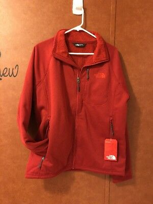 073964a0218f New Mens North Face Timber Full Zip Sherpa Lined Cardinal Red Fleece Jacket  M