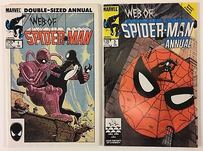 Web Of Spider-Man Giant-Sized Annual #s 1 and 2 - New Mutants App. VF+ to NM-