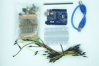 New UNO R3 Basic Starter Kit Breadboard LED Jumper Wire Cable for Arduino