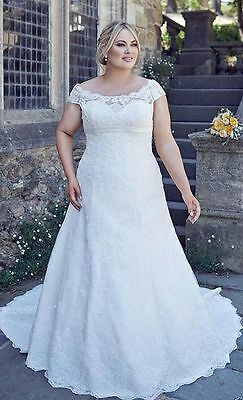 2017 New  Lace Wedding Dresses Bridal Gown custom plus size14/16/18/20/22/24/26
