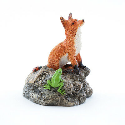 My Fairy Gardens Mini - Red Fox With Frog - Supplies Accessories