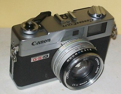 Canonet GIII QL17 Shutter operates smoothly / Meter NOT Working