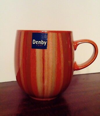 DENBY Fire Stripes Large Curve Mug BRAND NEW