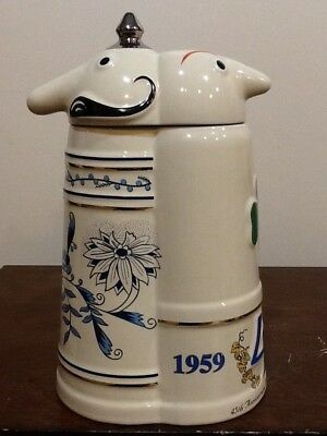 Utica Club Schultz & Dooley 45Th Anniversary Lidded Stein