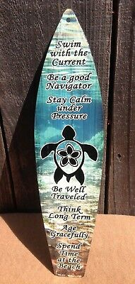 """Be A Pineapple Stand Tall Mini Novelty Beach Surf Board Sign 17/"""" x 4.5/"""""""