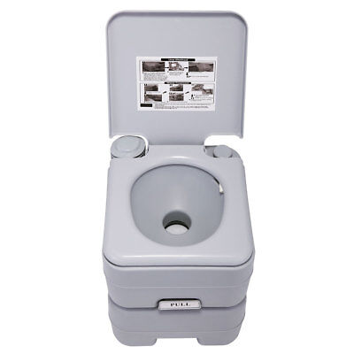 Outdoor/Indoor 5 Gallon 20L Portable Toilet Flush Travel Camping  Commode Potty