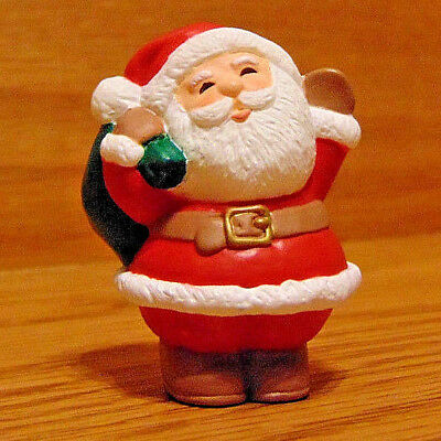 HALLMARK Merry Miniatures Christmas Santa Claus 1995 NEW with sack