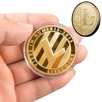 Gold Plated Commemorative Litecoin Collectible Golden Iron Miner Coin Gift SS