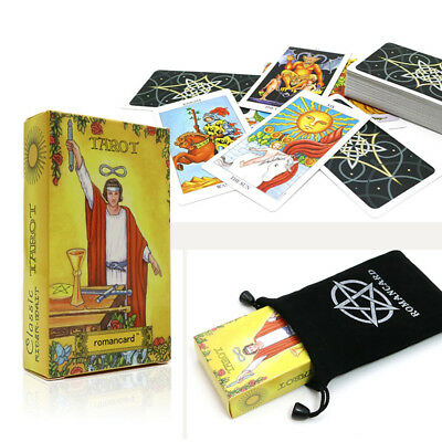 Magical Rider Waite Tarot Deck 78 Cards REGULAR Size Witches Wisdom Oracle & Bag