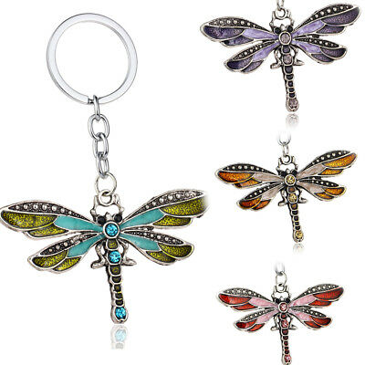 Butterfly Keyring Enamel Key Chain Gifts Charm Keychain Crystal Jewelry Pendants