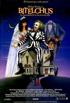 """002 BeetleJuice - Thriller Horror USA Classic Movie 14""""x20"""" Poster"""
