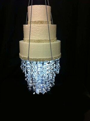 Crystal Ice Chandelier suspended swing  wedding cake stand