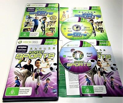 Microsoft Xbox 360 Games   Kinect Sports & Kinect Sports Season Two   Complete