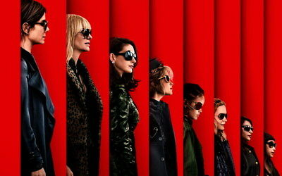 """002 Oceans 8 - Action Crime Thriller 2018 USA Movie 38""""x24"""" Poster"""