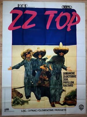 ZZ TOP - mega rare vintage original Paris 1981 billboard concert poster