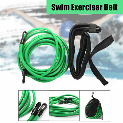 Swim Bungee Trainer Belt Cord Resistant Leash Station Swimming Training Exercise