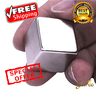 Rare Earth Neodymium Magnet Magnets Super Strong N52 Block Cube Small 1 One Inch