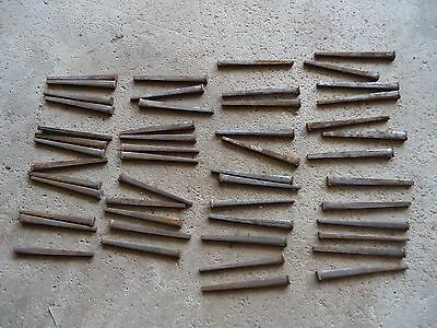 "Square Cut Raisin Head Nails 2.5"" Lot of 50 - Antique Amish Restoration Hardware"