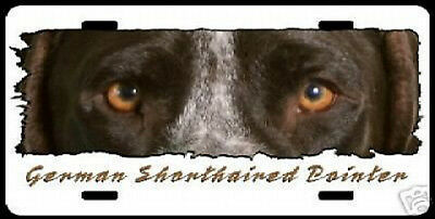 """German Shorthair Pointer  on W""""The Eyes Have It""""  Plate"""