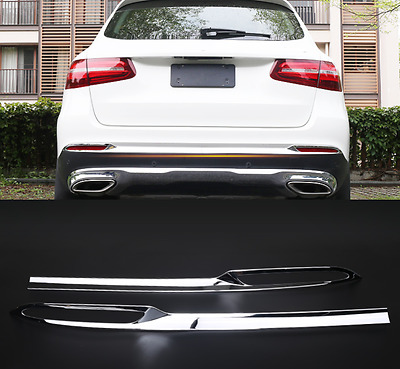 2X Chrome Rear Fog Light Bumper Cover Trim For Mercedes-Benz GLC300 GLC260 15-17