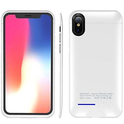 Apple iPhone X Battery Case Wireless Portable Charging Protective Cover White