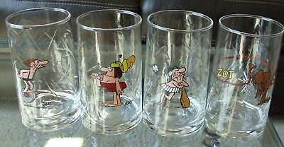Arby's B.C. Ice Age 1981 Collector Glasses -Choice-Thor Fat Broad Wiley Anteater