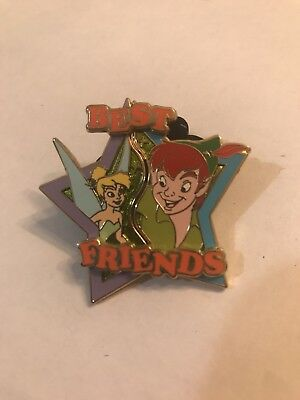 Disney Pin Peter Pan Tinkerbell best friends puzzle star le 2000
