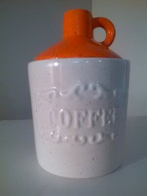 VTG CERAMIC Orange Cream JUG Coffee Canister - MADE IN USA