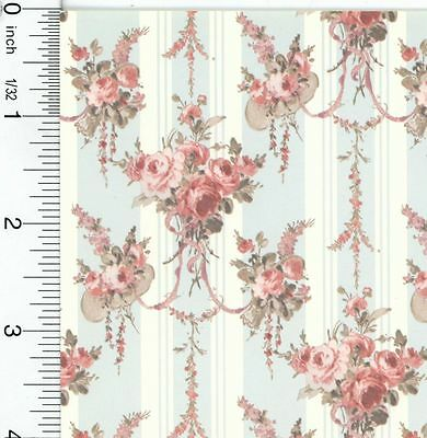 Dollhouse Wallpaper Chrystina Blue