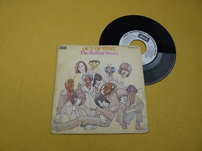 """The Rolling Stones – Out Of Time Spain edit (VG/VG+) PROMO 1976 single 7""""  ç"""