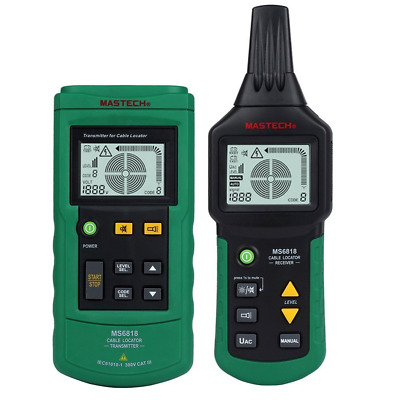 Elikliv Wire Cable Tracker 12~400V AC/DC Professional Metal Pipe Locator Detecto