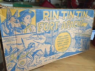1956 Marx Rin Tin Tin Fort Apache Play Set #3628, Collectors complete toy set