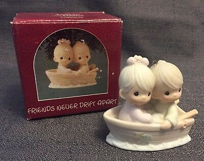 "Precious Moments 1990 Mini Christmas 3x2.5"" Friend Ornament! NIB (16)"