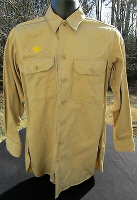 WWII US ARMY Cotton Khaki Service Shirt. Excellent Condition!!