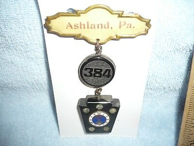 BPOE medal ashland pa 384 keystone made of coal