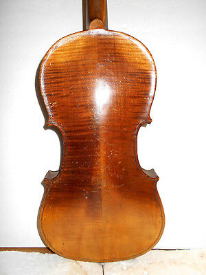 Vintage Old Antique Mid 1800s 2 Pc.Back Full Size Violin - No Reserve