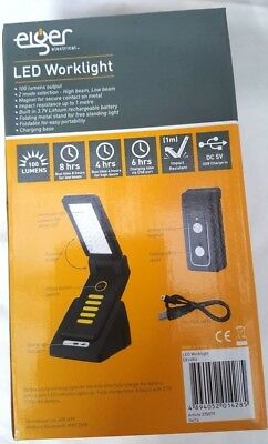 Magnet USB LED Foldable Working Work Light Torch Rechargeable 100 Lumens Charger