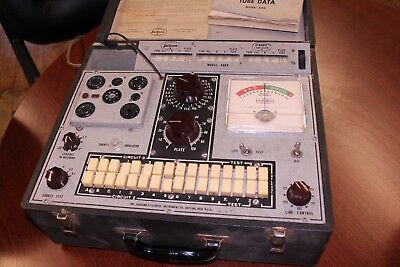 Jackson 648-R Tube Tester - Working And Shown Testing Tubes