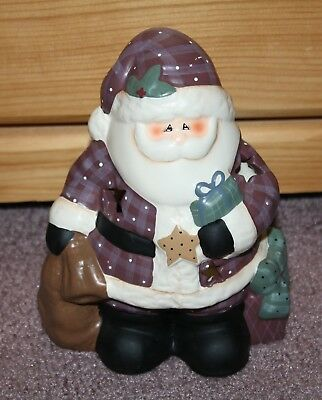 CRAZY MOUNTAIN Santa Tealight Votive Candle Holder Christmas Holiday Decor NWT