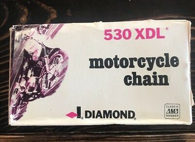 Diamond USA #530 XDL Motorcycle Roller Chain Replacement Harley 106 530-106 NOS