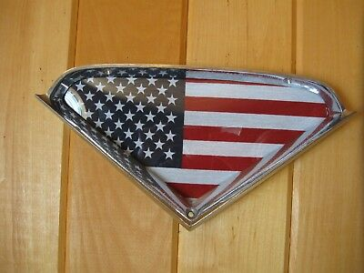 1955 1956 1957 1958 1959 Chevy Truck Chrome Bezel with Flag for Wall Hanging