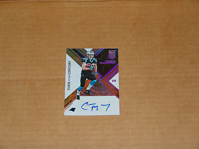 2017 Panini Elite Turn of the Century Orange Autograph Christian McCaffrey /10