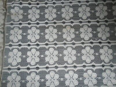 "open weave lace table cloth 64"" by 110"""