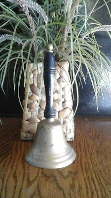 Penco Vintage Brass Handheld School Farm Dinner Bell