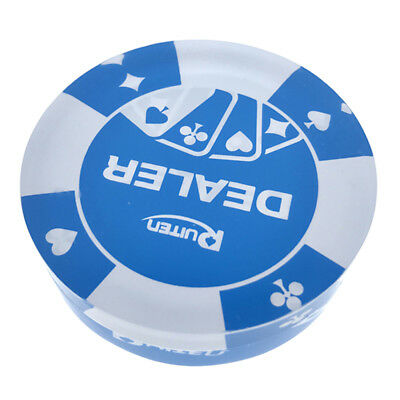Acrylic Casino Dealer Button Chip for Party Casino Accessory 2.83 x 0.78inch