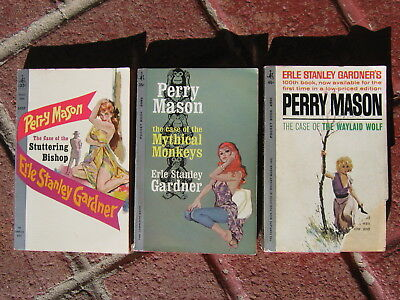 Lot of 3 Vintage 1960s PERRY MASON Mystery Paperbacks by Erle Stanley Gardner