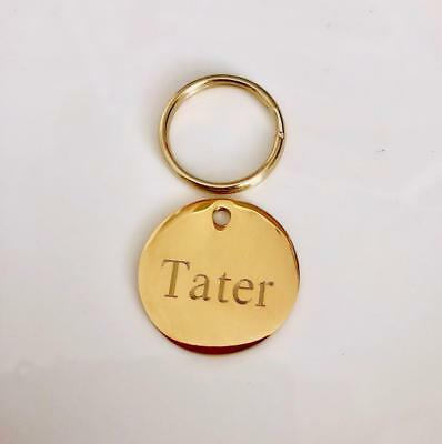 Personalized Pet/dog/cat gold Collar tags ID tag