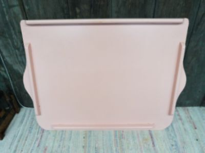 Vintage Retro Pink Breakfast Bed or Lap Tray Folding Legs adjustable for Reading