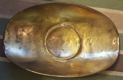 """Large Antique General Store Brass Scale Pan Scoop Candy Hardware Tray 21"""" Long"""