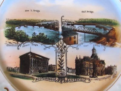 Ant Plate Advertising C C Aler Wall Paper Co Zanesville Oh Wheelock Dresden